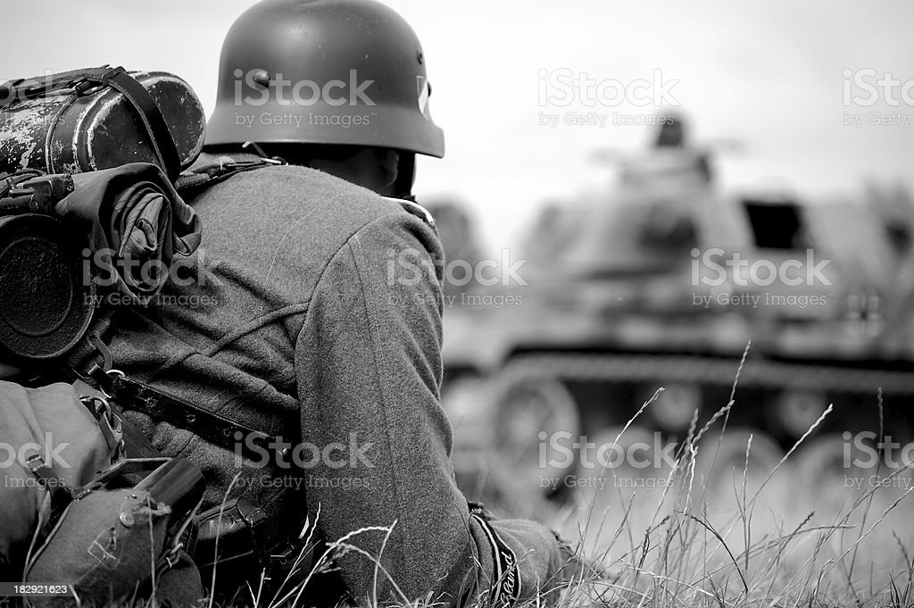 WW2 German soldier. stock photo