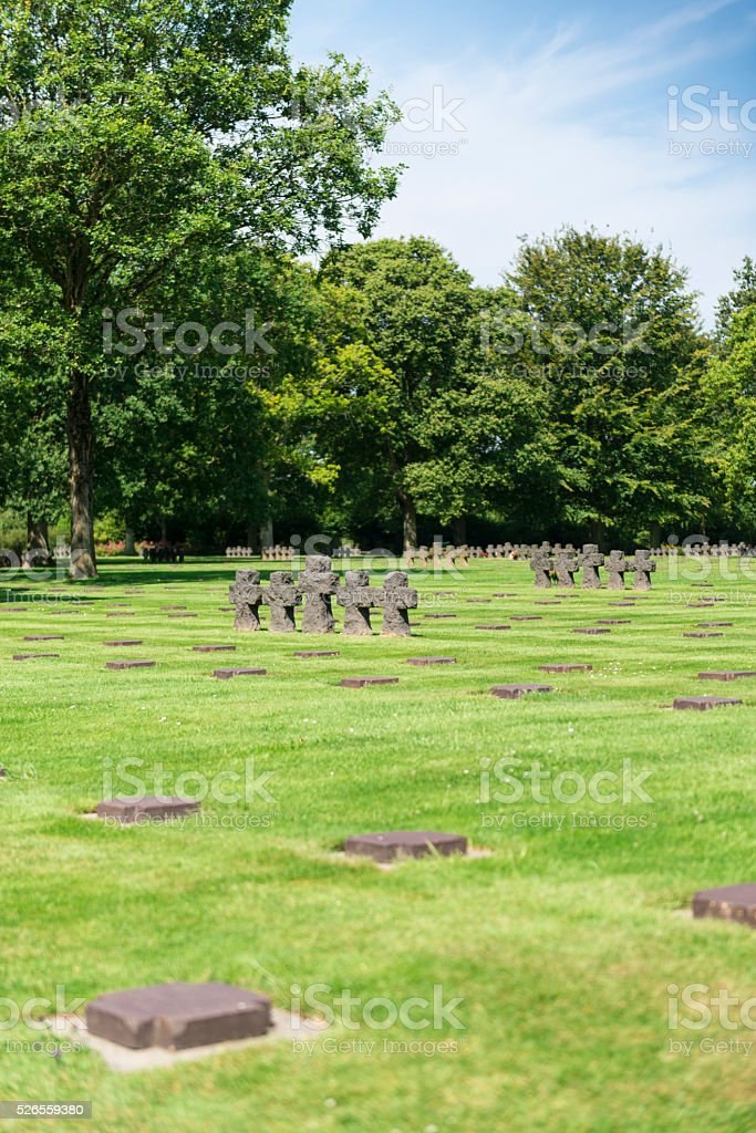 German soldiers cemetery in Normandy stock photo