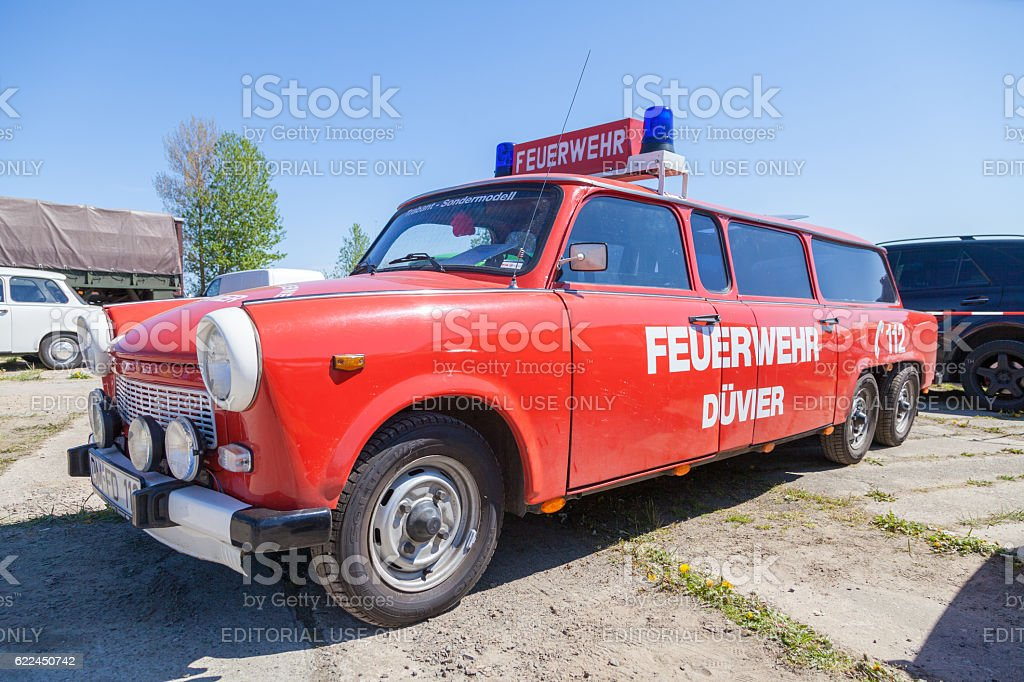 german special trabant version feuerwehr ( fire service) stock photo