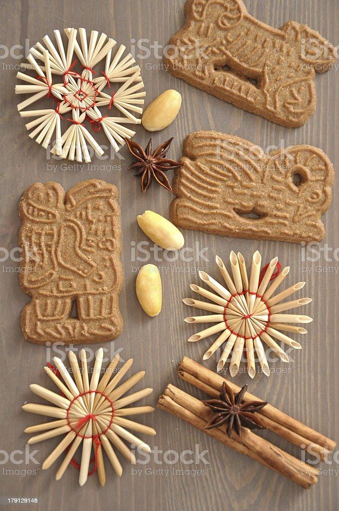 German Spekulatius Cookies for Christmas stock photo