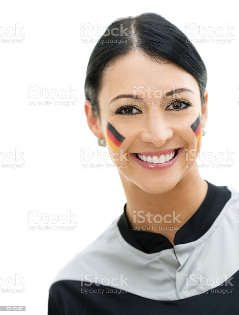 German sports fan royalty-free stock photo
