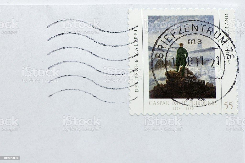 German Stamp royalty-free stock photo