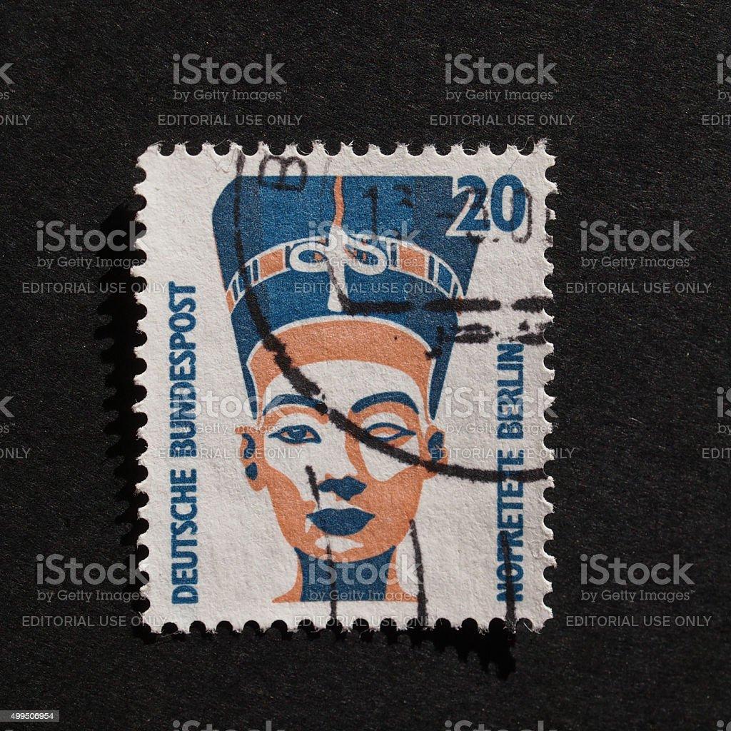 German stamp stock photo