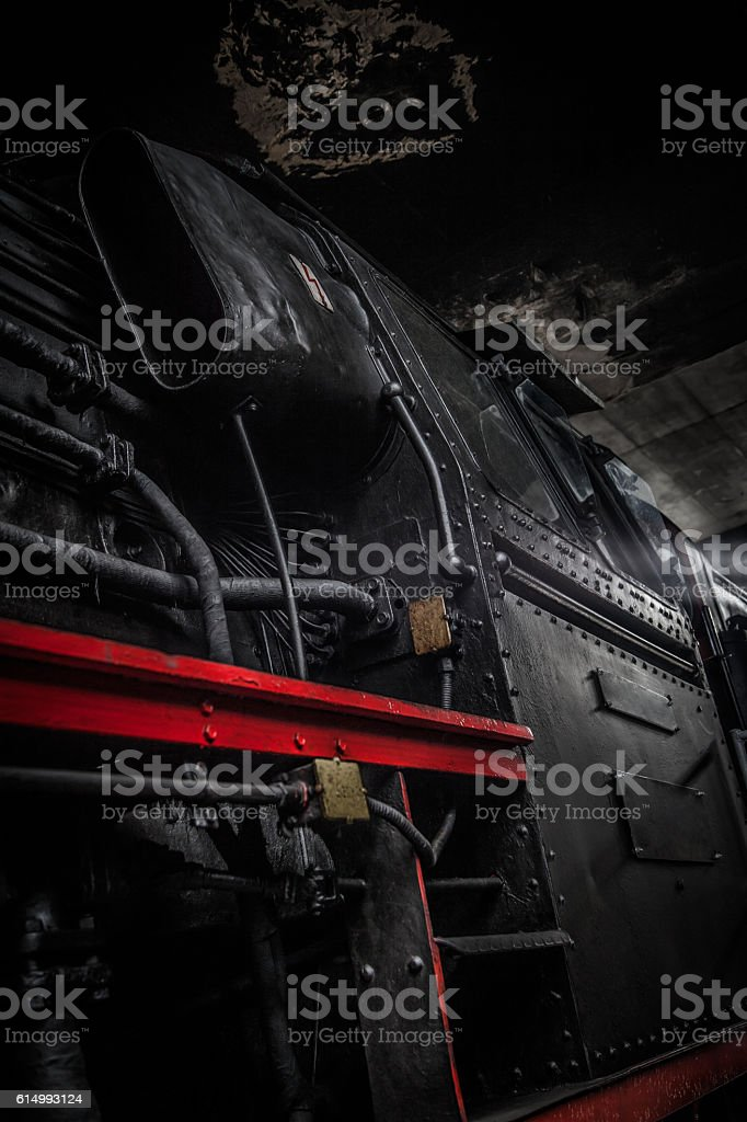 german steam train stock photo