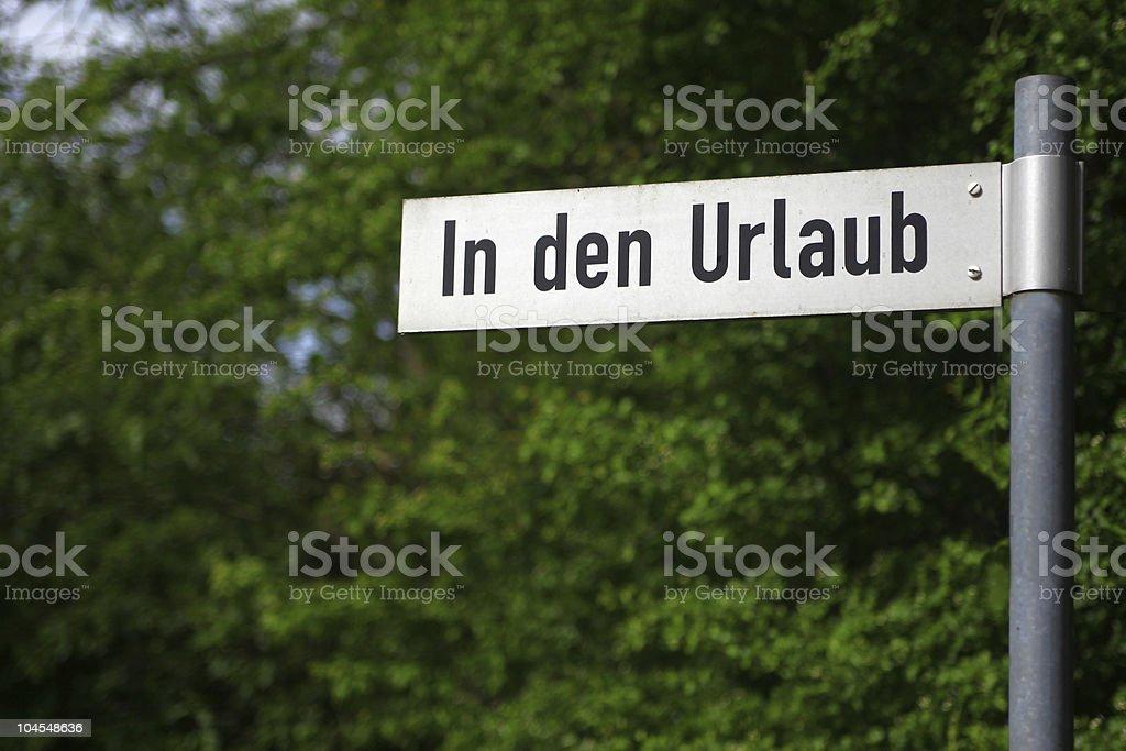 German street sign close-up royalty-free stock photo