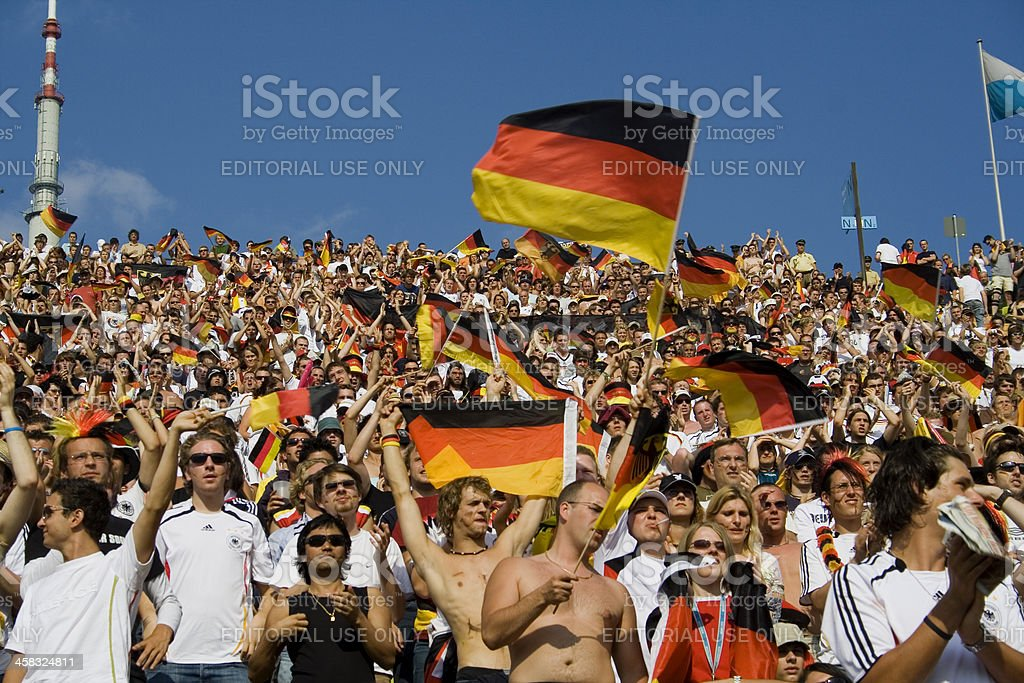 German supporters stock photo
