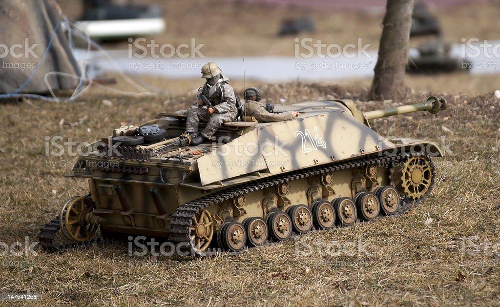 German tank destroyer JagdPz IV scale model stock photo