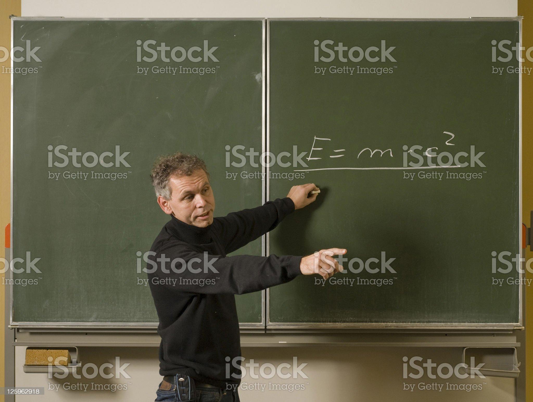 German teacher royalty-free stock photo