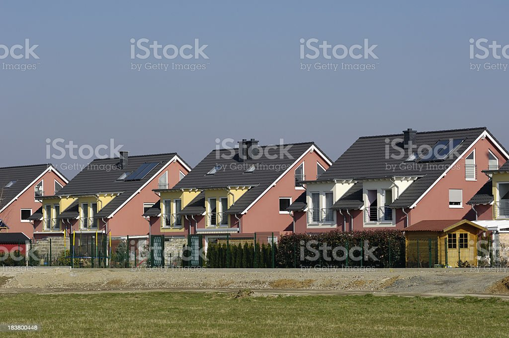 German terraced houses royalty-free stock photo
