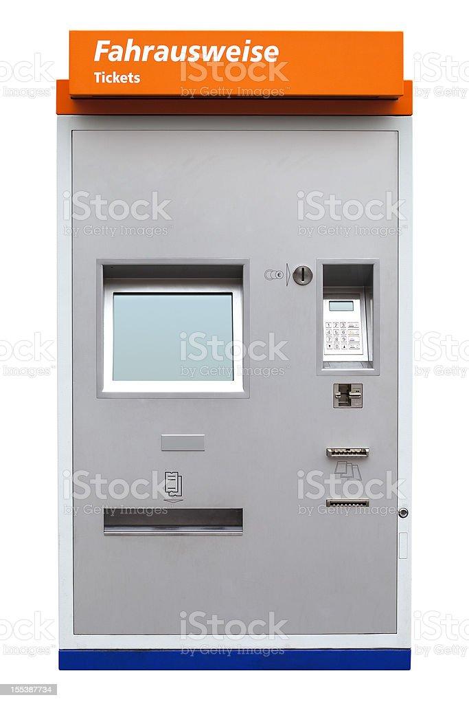 German Ticket machine stock photo