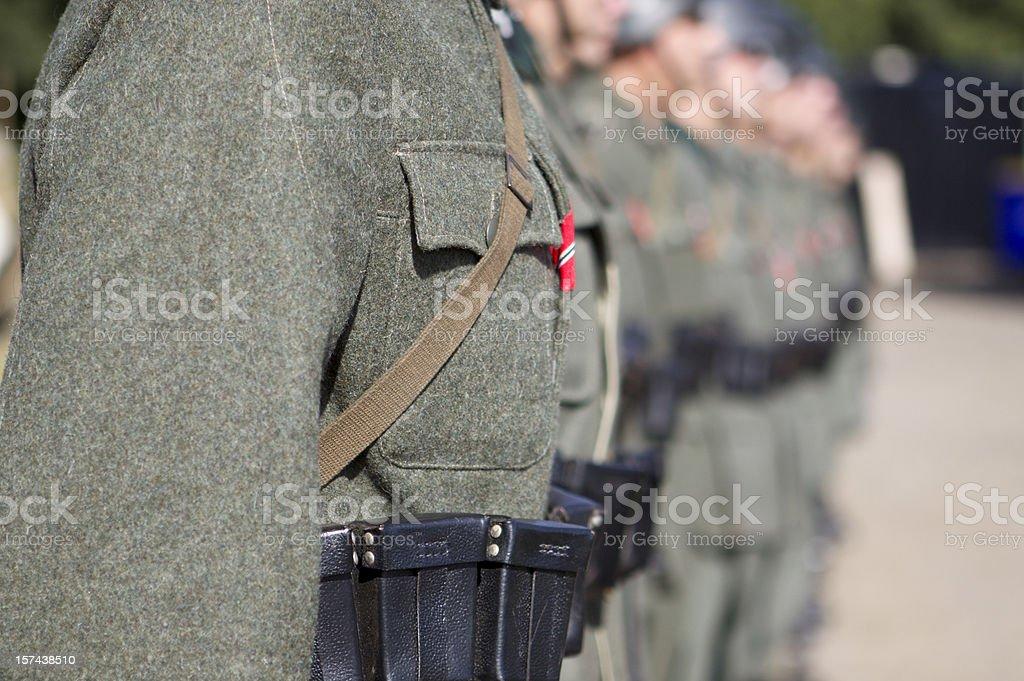 German troops stock photo