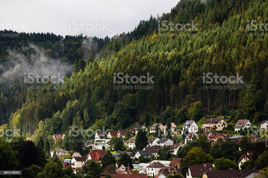 German village in Schwarzwald stock photo