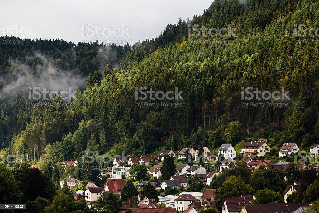 German village in Schwarzwald stock photo