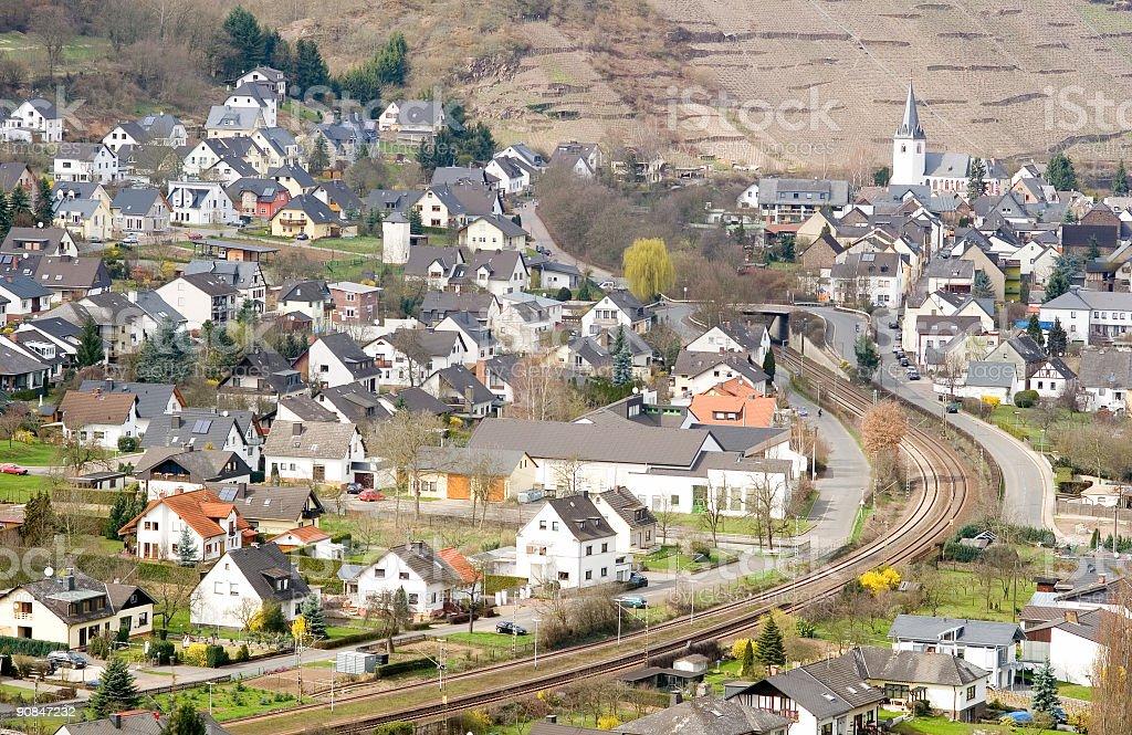 German village stock photo