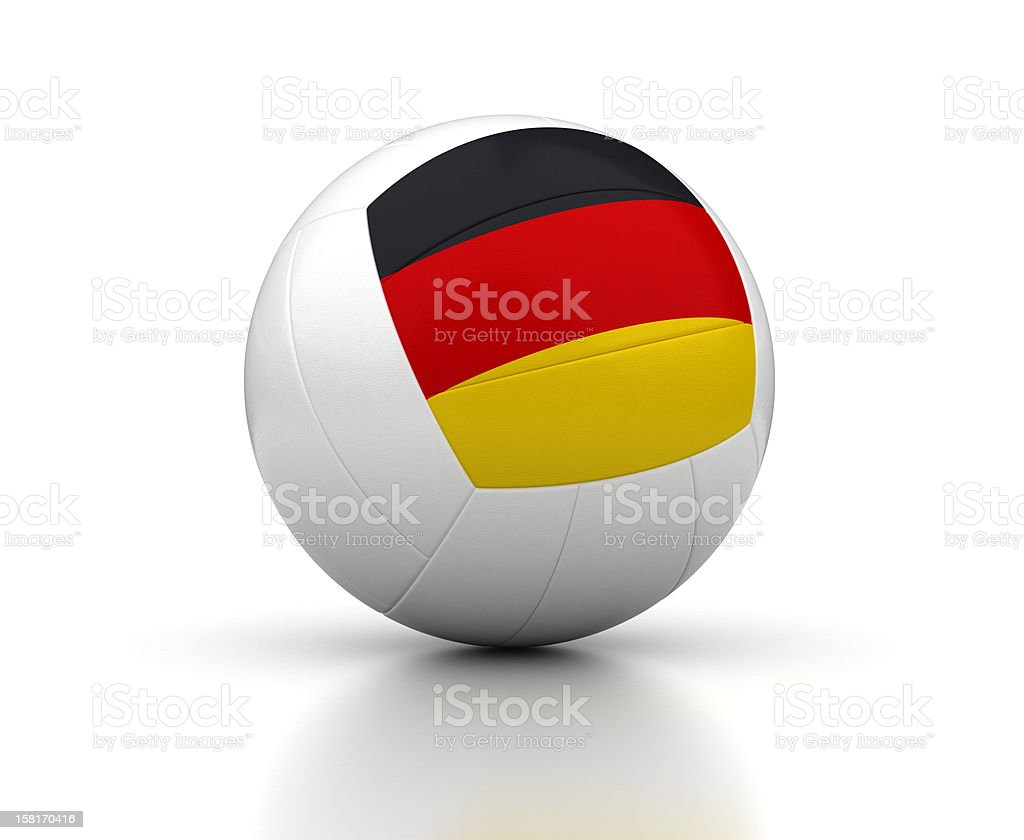 German Volleyball Team royalty-free stock photo