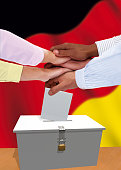 German voters expressing unity