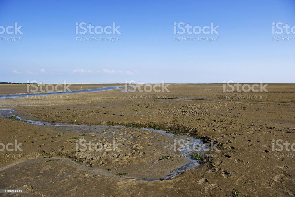 German 'Wattenmeer' landscape stock photo