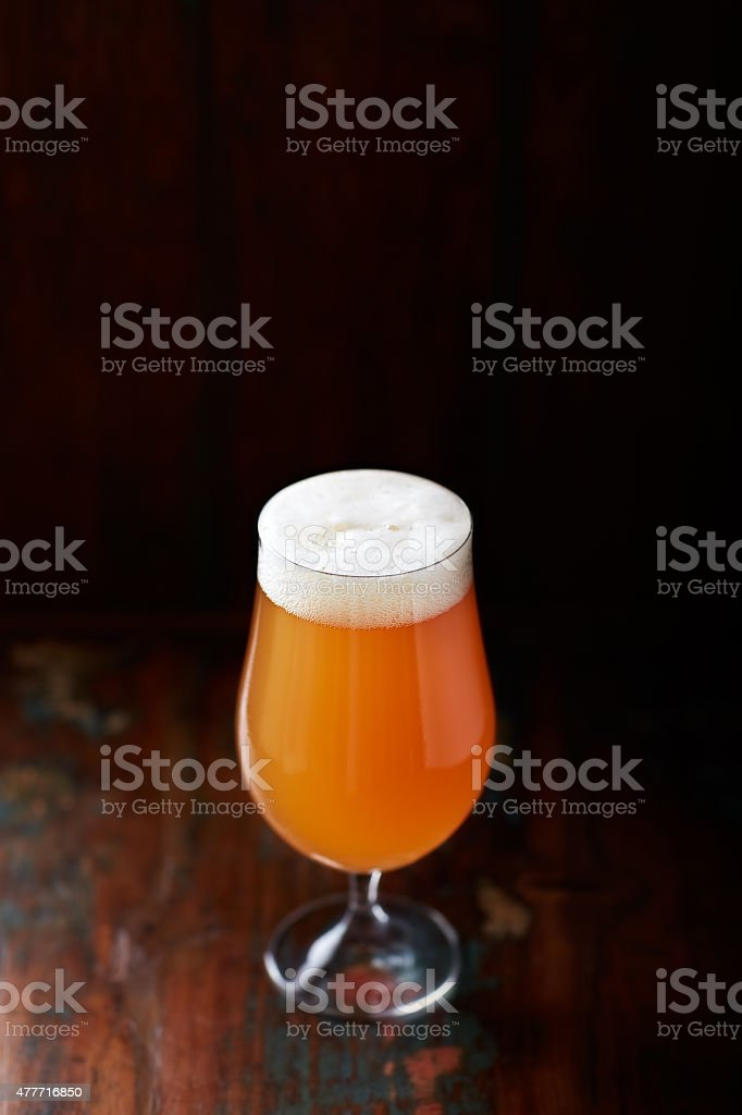 German Wheat Beer in a Glass (Hefe-Weißbier ) stock photo