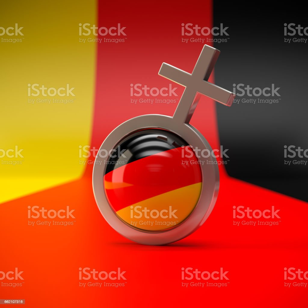 German Woman stock photo