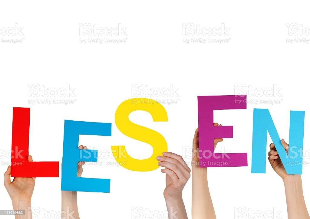 german word LESEN with letters stock photo