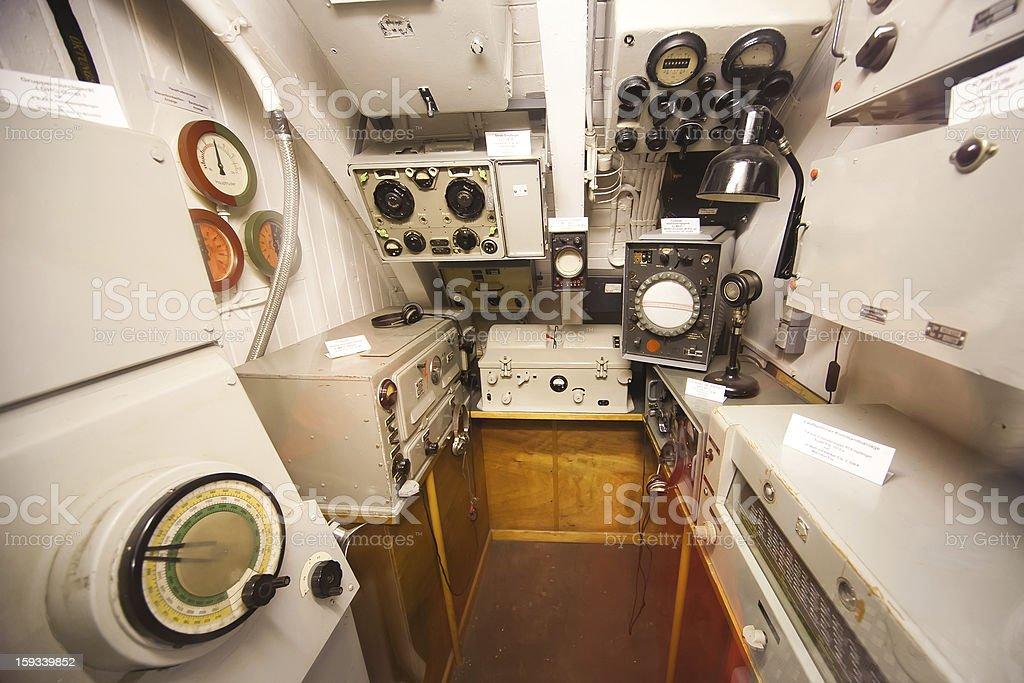 German world war 2 submarine type VIIC/41 - sonar compartment stock photo