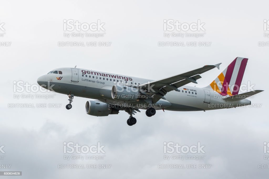 Germanwings airlines plane stock photo