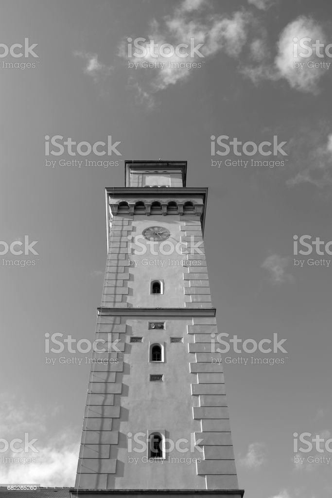 Germany: An old waterworks tower in Eastern Thuringia stock photo