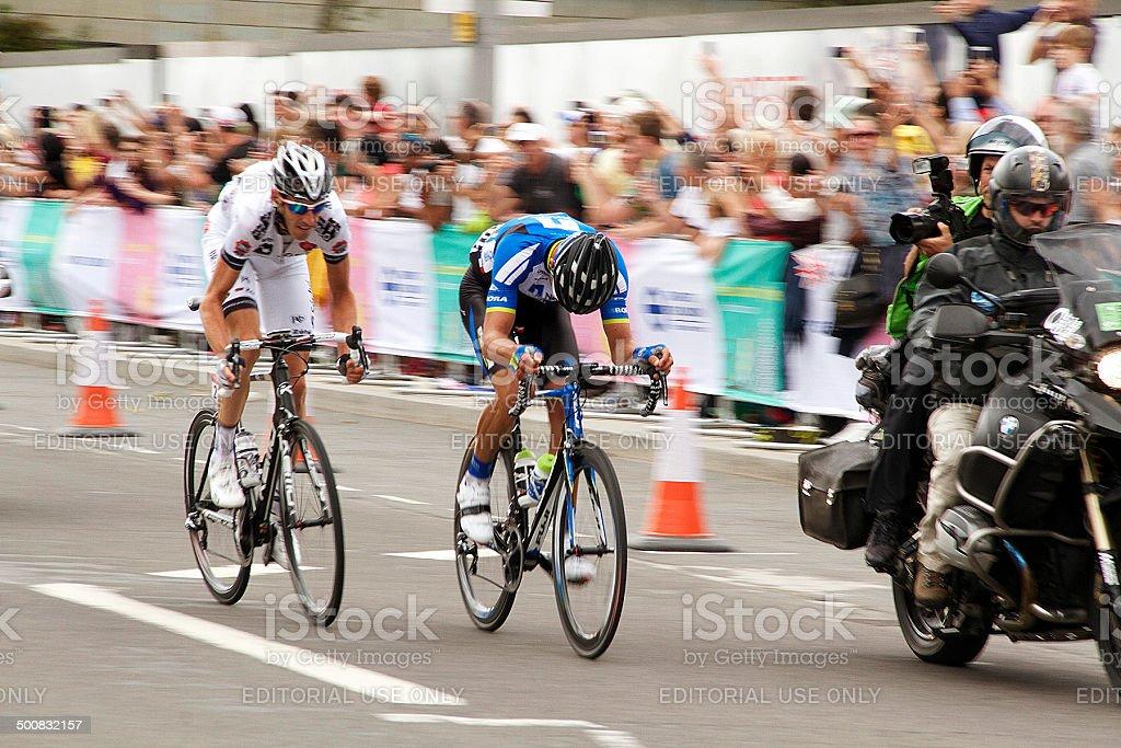 Germania e la Bretagna Tour De France a Stratford di Londra foto stock royalty-free