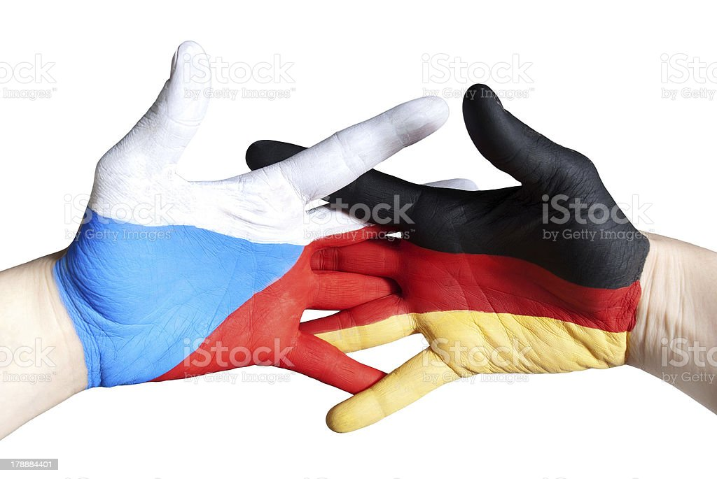 germany and czech republic royalty-free stock photo