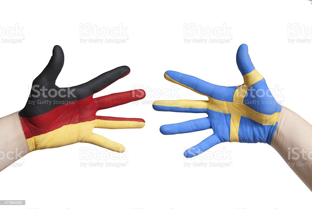 germany and sweden royalty-free stock photo