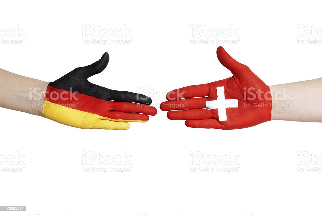 germany and switzerland royalty-free stock photo