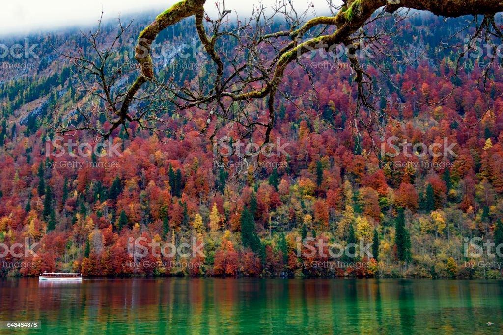 Germany Autumn Königssee Lake stock photo