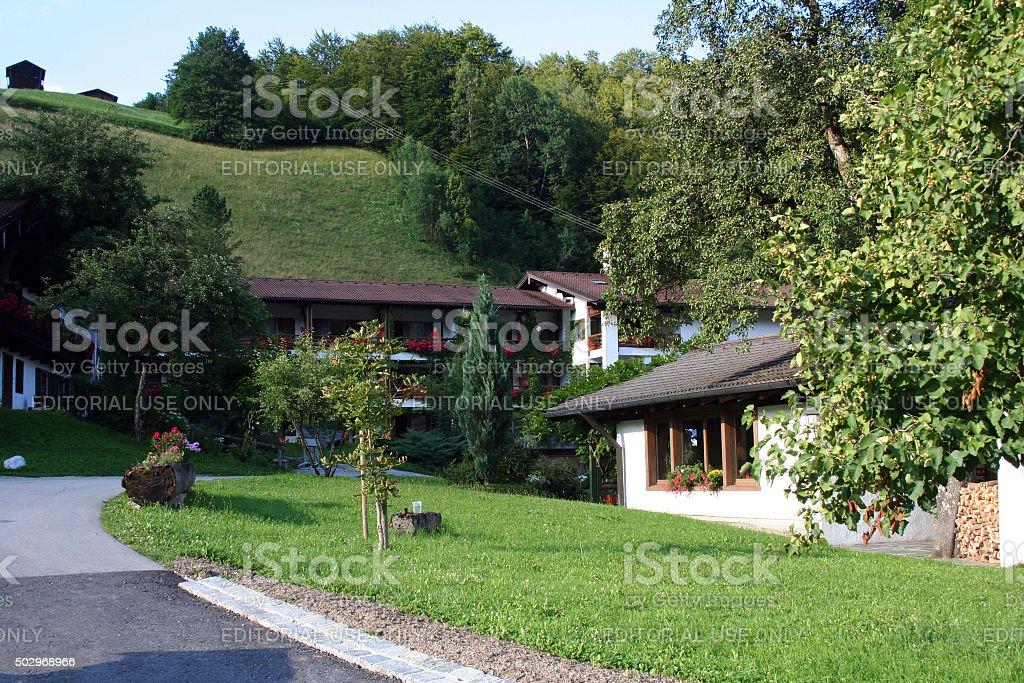 Germany: Berghotel Rehlegg in Ramsau stock photo