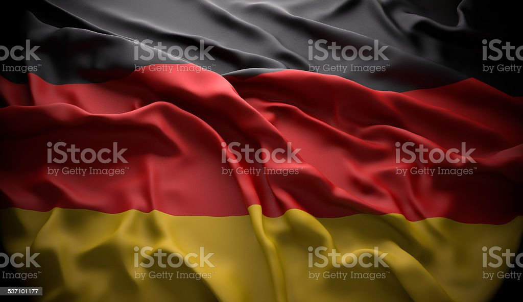 Germany, Berlin national official state flag stock photo