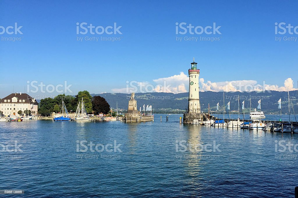 Germany Bodensee - Lindau harbour stock photo