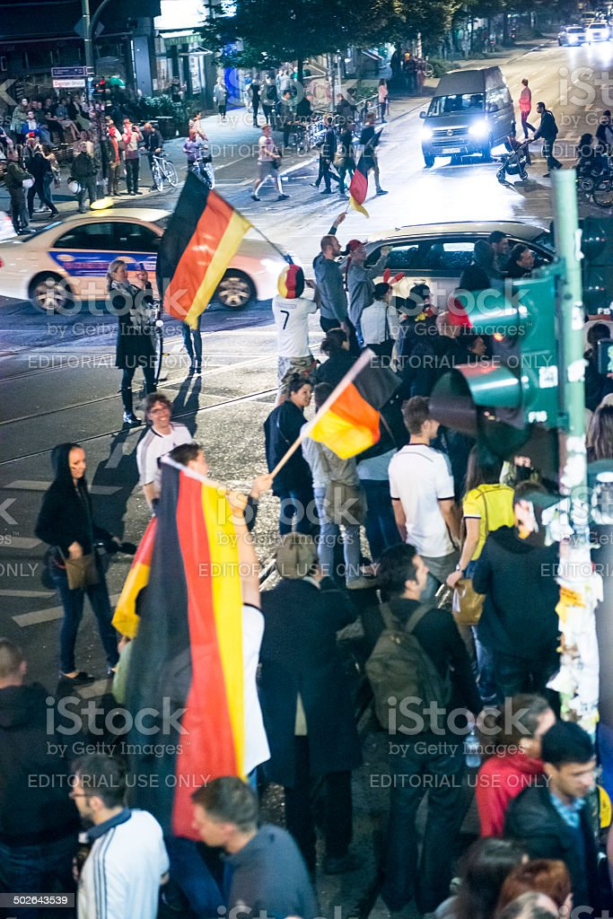 Germany celebrates winning the Fifa World Cup 2014 royalty-free stock photo