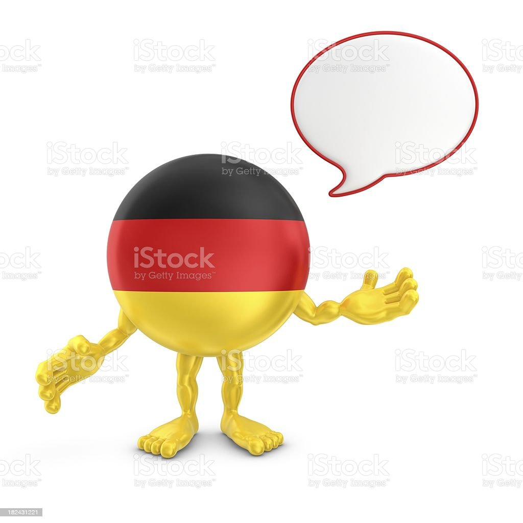 germany character with speech bubble royalty-free stock photo