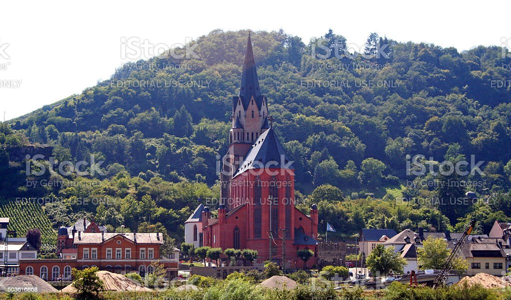 Germany: Church of our Lady (Liebfrauenkirche) in Oberwesel stock photo