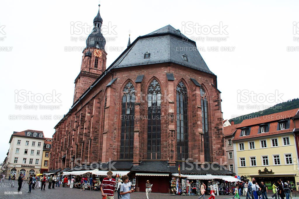 Germany: Church of the Holy Spirit (Heiliggeistkirche) in Heidelberg stock photo