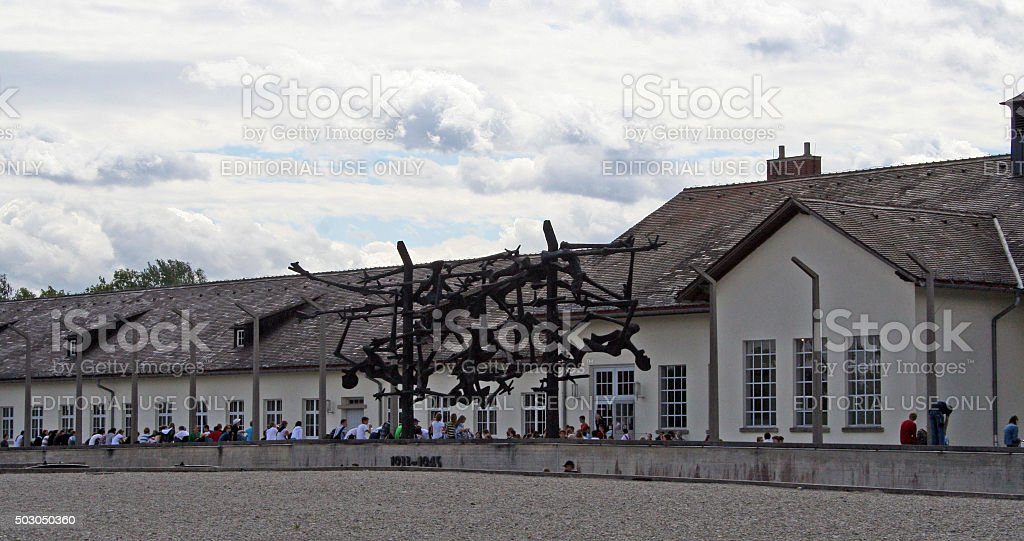 Germany: Dachau Concentration Camp stock photo