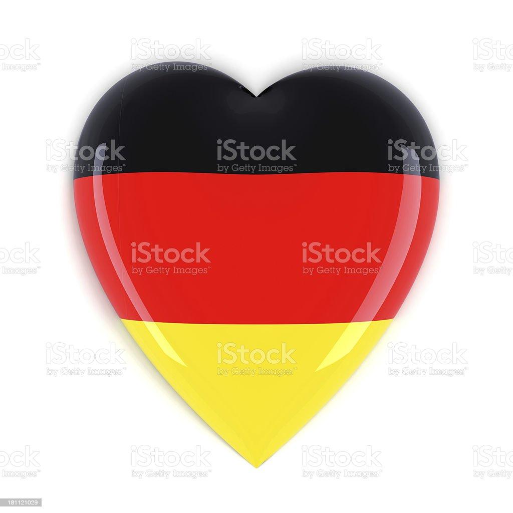 Germany Flag Heart royalty-free stock photo