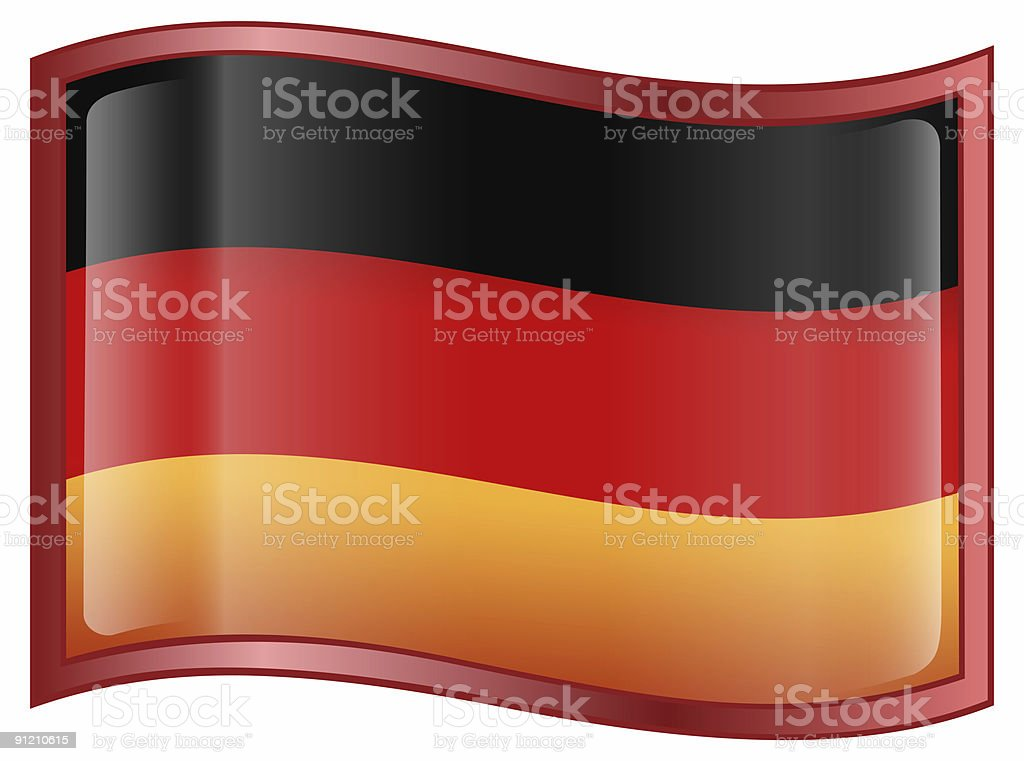 Germany Flag Icon, isolated on white background. royalty-free stock photo