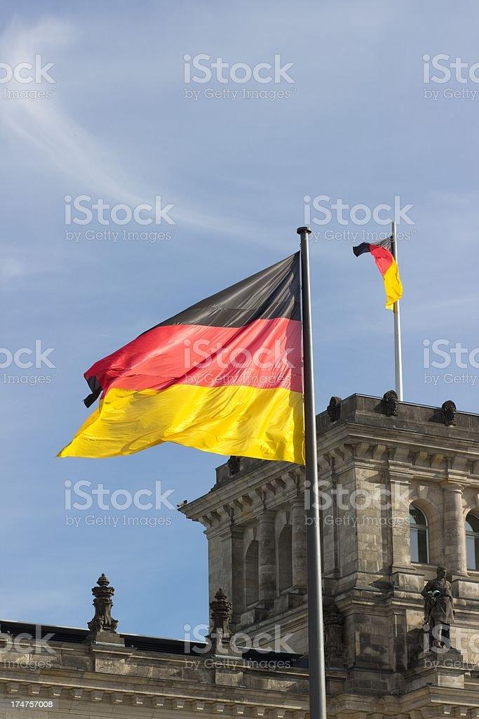 Germany flag on blue sky royalty-free stock photo