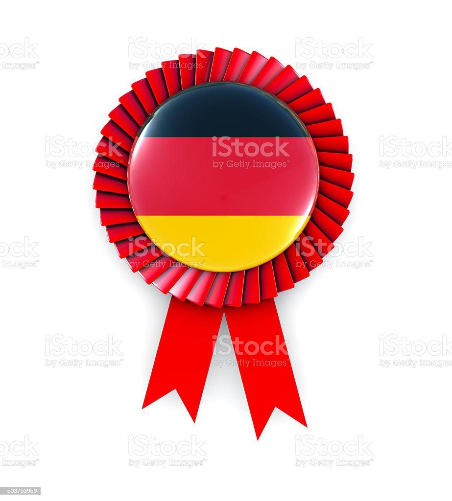 Germany Flag on Cockade stock photo