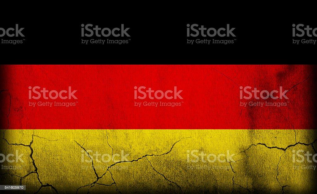 Germany flag on stone stock photo