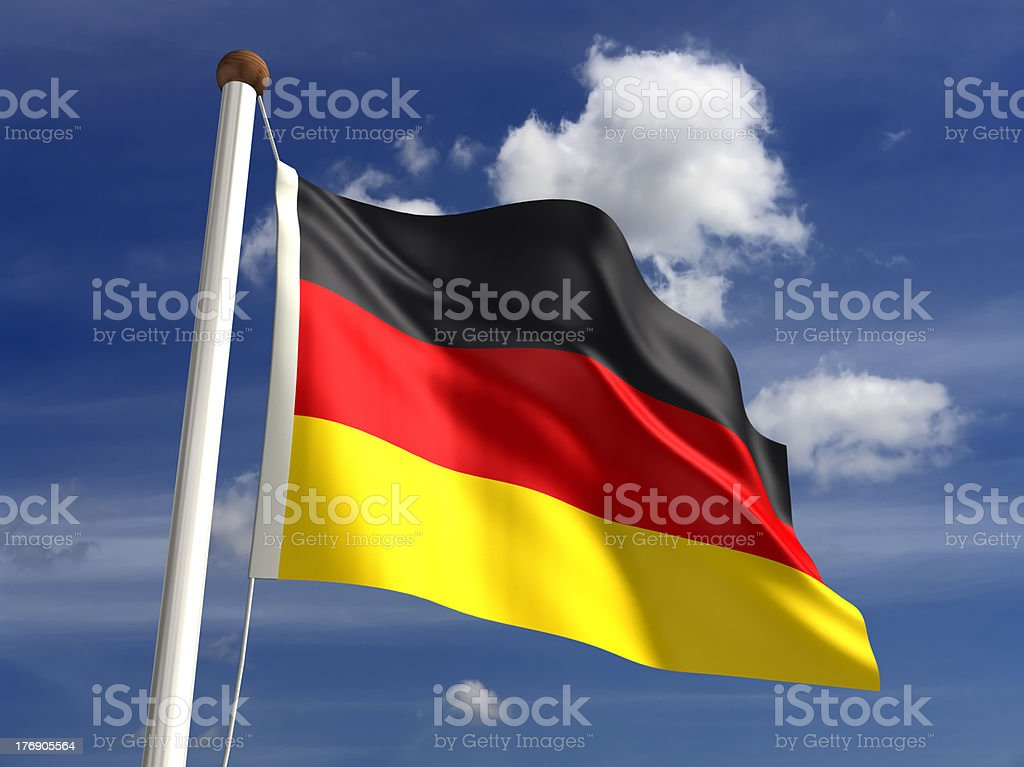 Germany flag (with clipping path) royalty-free stock photo