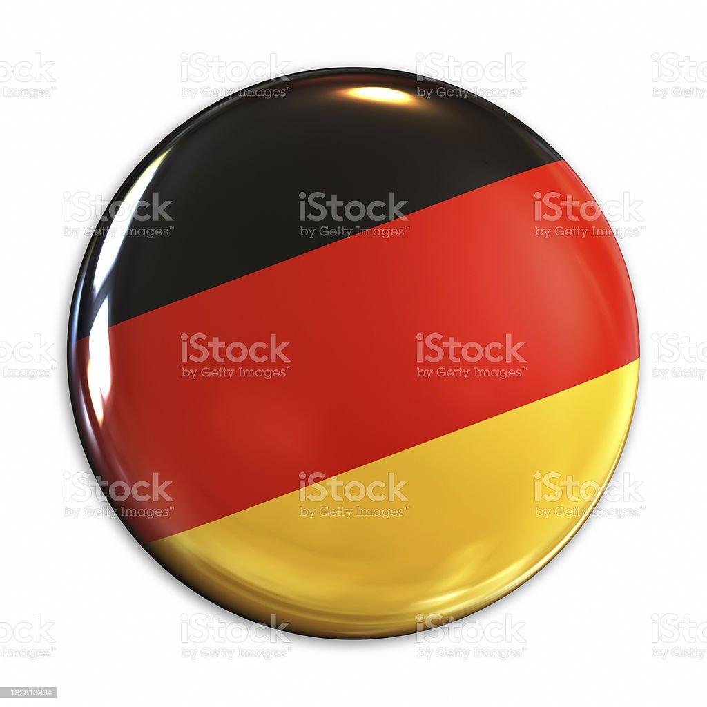 Germany flag pin royalty-free stock photo
