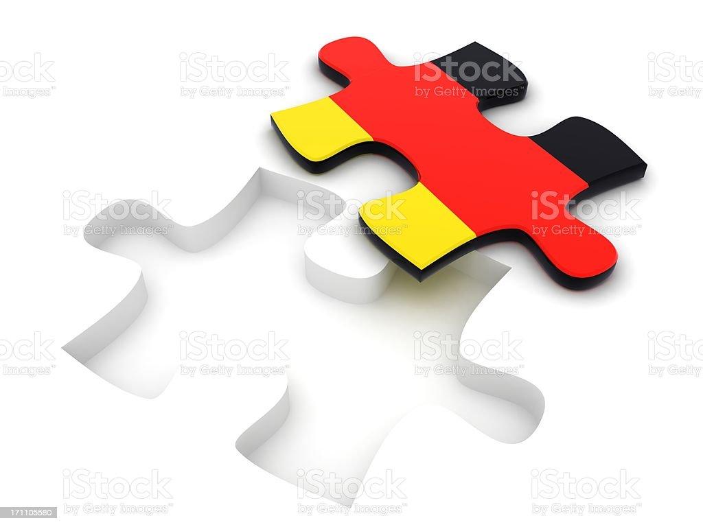 Germany Flag Puzzle royalty-free stock photo