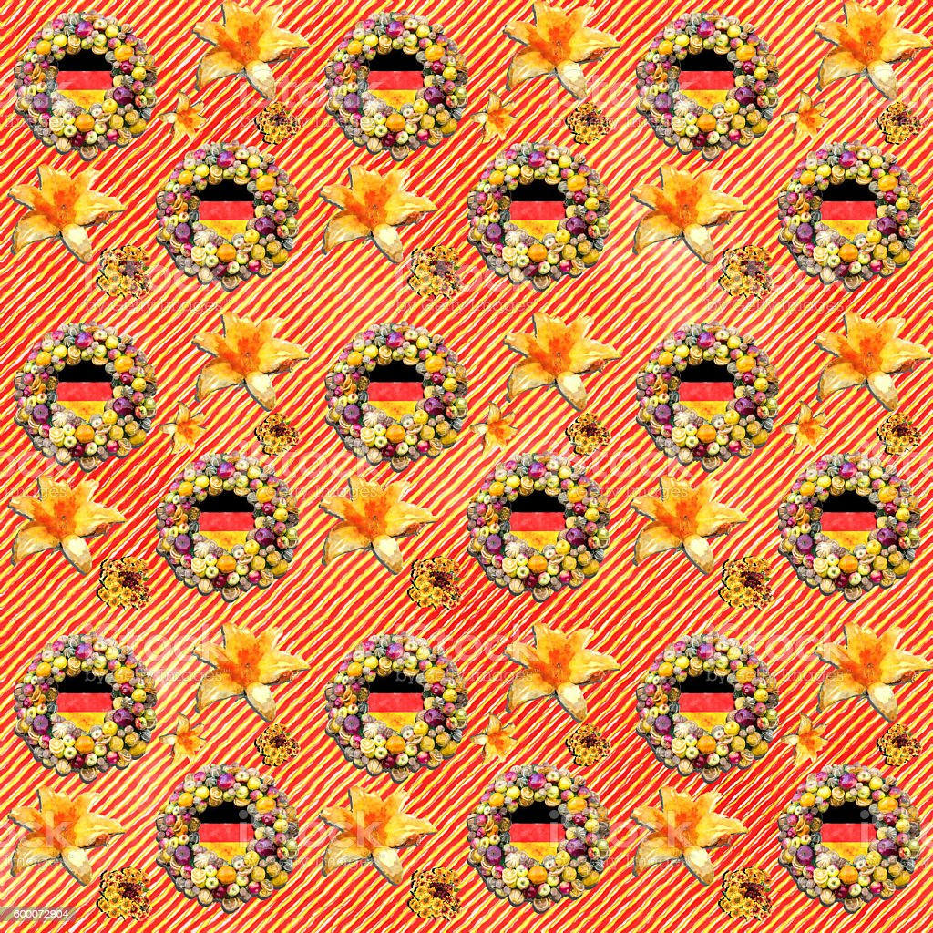 Germany flag seamless pattern royalty-free stock photo