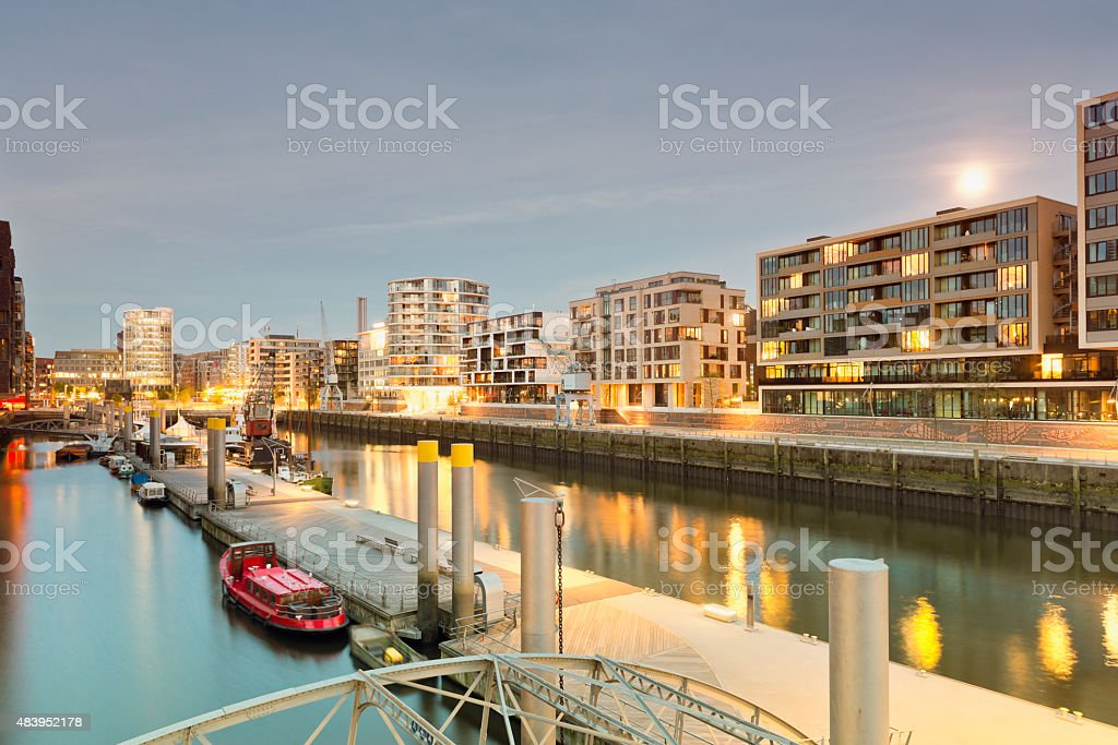 Germany, Hamburg, Hafencity, modern architecture at the waterfront stock photo